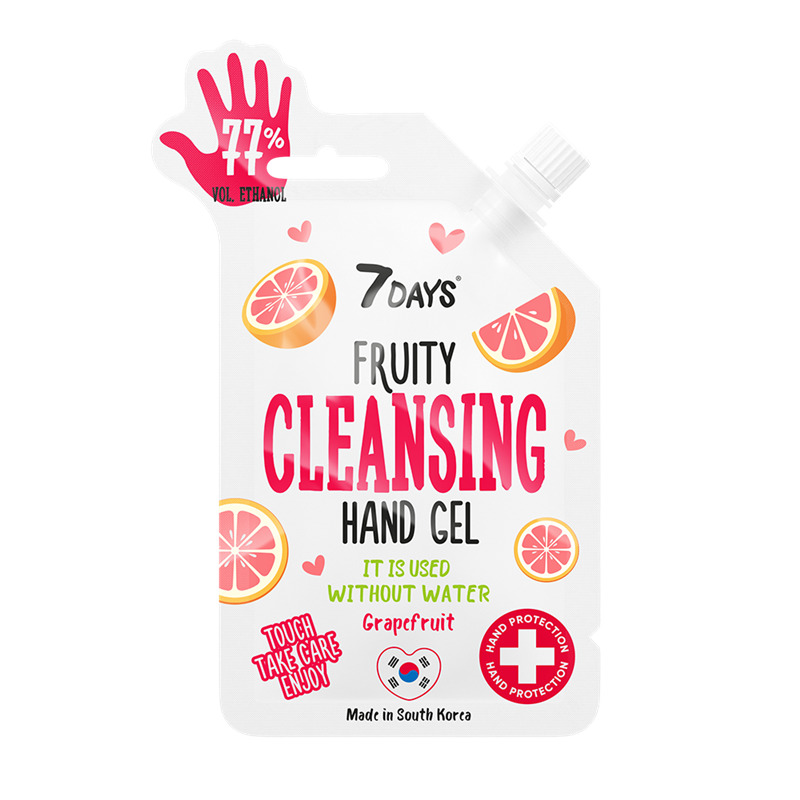 FRUITY CLEANSING HAND GEL com aroma a toranja 25ml